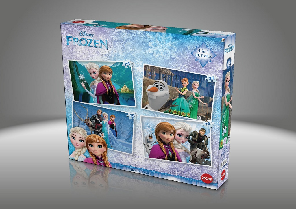 4in1 Frozen Puzzle